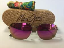 New Maui Jim LAVA TUBE Polarized Titanium Sunglasses P786-24B Mat Sepia/Sunrise