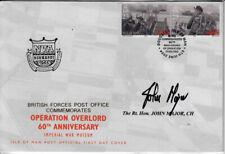 More details for bfpo d-day 60th anni iom fdc signed pm prime minister sir john major