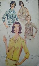 """Vintage 1960s Butterick Blouse Printed Sewing Pattern #2683 Bust 31"""" 79cm"""