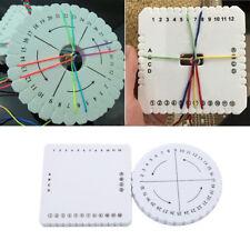Durable Round Disk Braided Plate Supplies Needlework Bracelet Weaving Board W