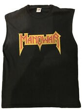 Manowar Large Vest. Shirt Rare