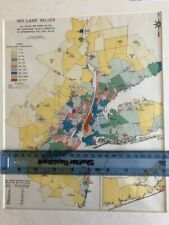 Map of New York 1923 Land Values. Original Produced in 1929.