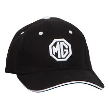 MG logo Baseball cap Black / White 100% cotton Firm front panel Octagon logo NEW