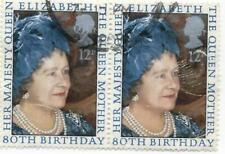 GB Stamps SG1129. Used Pairs 1980 80th Birthday of The Queen Mother