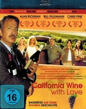 BLU-RAY - California Wine With Love - Alan Rickman, Bill Pullmann & Chris Pine