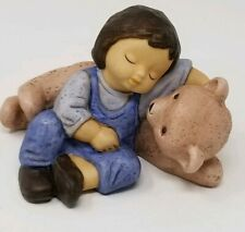 Nina Marco Goebel Porcelain Figurine -Sleeping Child with Large Teddy Bear
