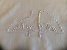 Antique French Linen Monogrammed Sheet