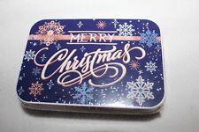 Christmas Gift Card Tin Snowflakes Merry Christmas