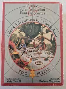 Alice's Adventures in Wonderland Blue Opal Special Ed 500 Pc Jigsaw Matthews NEW
