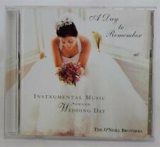 A Day To Remember Instrumental Music For Your Wedding Day O'Neill Brothers CD