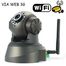 TELECAMERA IP CAMERA CAM WIRELESS CON SLOT MICRO SD MOTORIZZATA LED SORVEGLIANZA