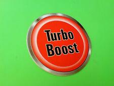 Turbo Boost botón Carrera Rally Novedad coche DASH pegatina 1 De 50 Mm