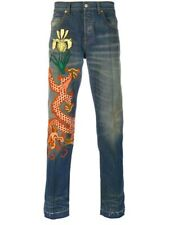 GUCCI $1200 Men Brand New Embroidered Jeans 100% Authentic,  Size US34, IT 48-50