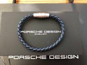 Porsche Design Bracelet Grooves stainless steel,Indigo Blue 18cm *NEW