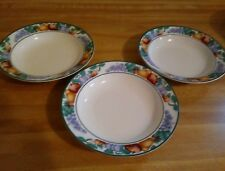 Tienshan Intro Orchard~Set of 3 Rimmed Soup/Pasta Bowls~Fruit