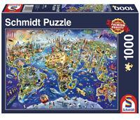 New Schmidt Explore Our World Famous Landmarks 1000 piece jigsaw puzzle