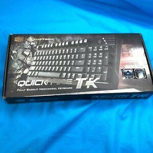 Cooler Master CM Storm Quickfire TK Wired Cherry MX Blue Mechanical Keyboard