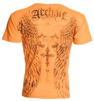 Archaic AFFLICTION Mens T-Shirt BLASTER Skull Cross Tattoo Biker M-4XL $40
