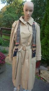 EVAN PICONE Tan Double Breasted TRENCH COAT w/ Removable Lining Women's Medium?