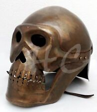 Medieval Skeleton Armour Helmet Viking Mask Spectacle Roman knight Helmet