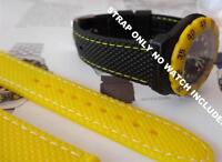 QUALITY RUBBER 18MM YELLOW STRAP BAND FOR TAG F1 FORMULA ONE   380.513/1