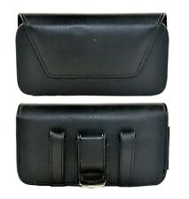 Cell Phone Horizontal Leather Holster Belt Clip Black Pouch Samsung S3, S4