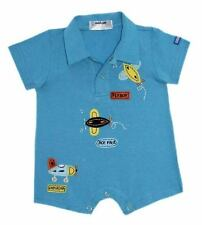 Oshkosh B'gosh Blue Flyboy Romper w/ Collar Infant/Baby Boy Clothes, Size: 3 mos