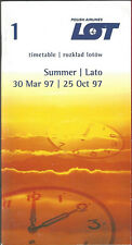 LOT Polish Airlines system timetable 3/30/97 [6112]