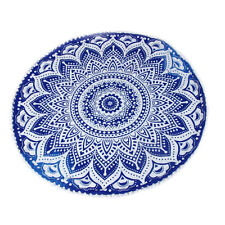 Bohemian Large Mandala Print Floor Pillow Throw Case Round Cushion Cover Pouf