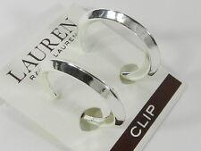 LAUREN RALPH LAUREN Knife Cut Hoop Earrings