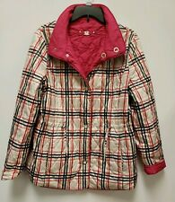 Gerry Weber Edition Reversible  Coat Jacket Women's Sz 12 Pink and Plaid
