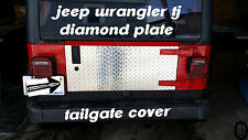 Jeep Wrangler TJ  Highly Polished Diamond Plate 1 pc Tailgate Cover