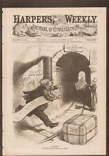 Marshall Jewel. Postmaster General. Post-Haste Thomas Nast.Harper's Weekly 1875