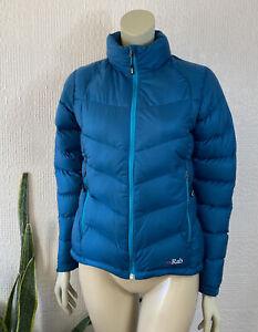 RAB Down Feather Puffer Jacket Blue Pertex Microlight Ladies Size 10