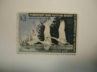 US Department of Interior Scott #RW33 $3 Whistling Swans Stamp 1966, Used & S...
