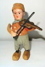 1930s? Schuco, clockwork toy, Dutch boy playing a fiddle / violin.