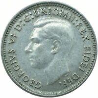 1948-1952 AUSTRALIA SILVER THREEPENCE GEORGE VI. CHOOSE YOUR DATE!