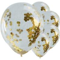 """5 Pack Confetti Balloons Latex 12"""" Decorations Helium Birthday Party Wedding"""