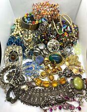 Huge Mixed Job Lot of 62 Pieces of Vintage Costume Jewellery - NOT SCRAP -RESALE
