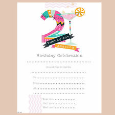 21st Birthday Invites - Pack of 20 - Female. Simon Elvin Amazing 21. HP159P