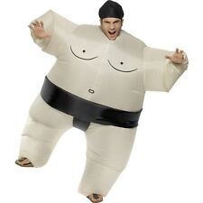 Mens Adult Sumo Wrestler Fancy Dress Costume Inflatable Stag Night Fun Fat Suit