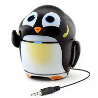 Cute Rechargeable Portable Speaker with Passive Subwoofer (Groove Pal Penguin),