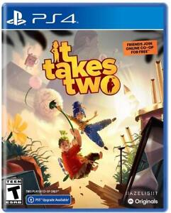 It Takes Two Sony PlayStation 4 [PS4 EA Adventure Co-op Puzzle Puppets] NEW