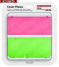#22 Pink & Green Cover Plate New Nintendo 3DS Official Nintendo Item Japan