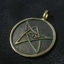 Bronze Elder Sign pendant. Cthulhu Mythos. H. P. Lovecraft. Geek. RPG. Amulet.