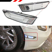 FIT 03-07 INFINITI G35 COUPE CLEAR LENS LED TUBE BUMPER SIDE MARKER LAMPS LIGHT