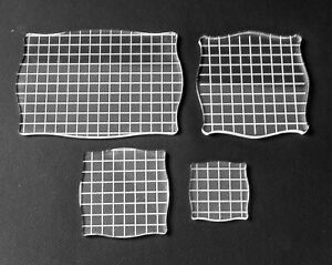 Acrylic Lightweight clear Grid stamping block, MANY SIZES