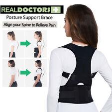 UK Magnetic Back Posture Corrector Men Women Support Lumbar Shoulder Belt Brace