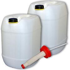 2x  Plastikkanister  Campingbehälter 30 L natur Plastikdeckel Ausgießer flexibel