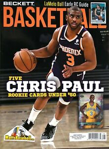August 2021 Basketball Beckett Monthly Price Guide Vol 32 No 8 Chris Paul